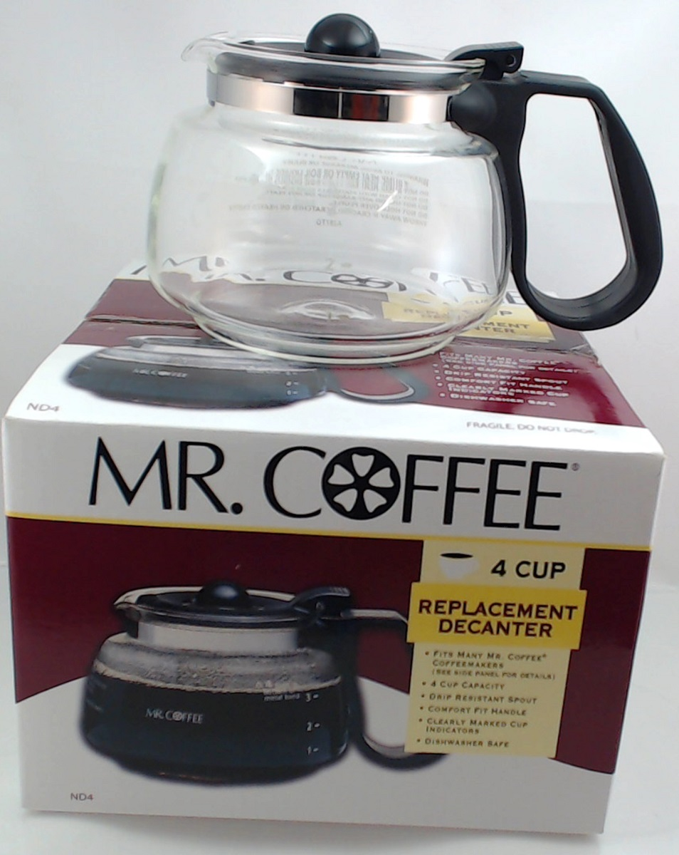 Mr Coffee 4 Cup Gl Carafe Black Nl4 Nl5 Nlx5 Nd4