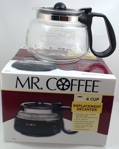 Mr. Coffee 4 Cup, Glass Carafe, Black, NL4, NL5, NLX5, ND4