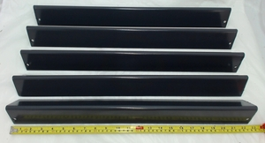 Porcelain Steel Heat Plate for Weber Gas Grill Models, Set of 5, 95365