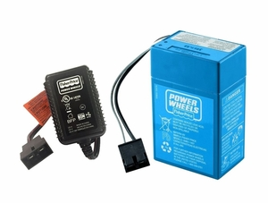 Power Wheels Super 6 Volt Blue Battery & Charger Kit, PWBBKIT
