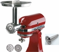 S.S. Food Grinder & Sausage Stuffer for Kitchenaid Stand Mixer, 250001 & 476100