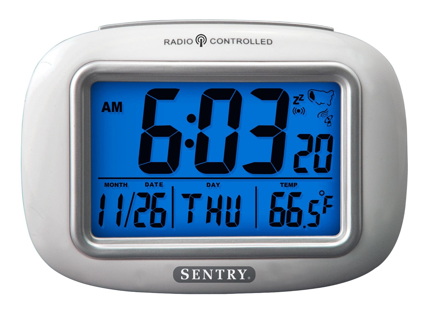 Atc30 sentry weather atomic clock - Digital illuminated wall clocks ...