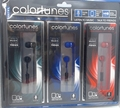 Sentry Colortunes 3 Pack In-Ear Buds with In-Line Mic, Black, Blue & Red, HM3PKB