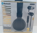 Sentry Harmony, Rechargeable, 2 Pack Headphones with In-Line Microphone, BC200