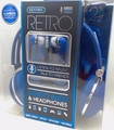 Sentry Retro Headphones & In-Ear Buds with In-Line Mic, Blue, 2 Pack, HC400B
