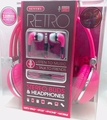 Sentry Retro Headphones & In-Ear Buds with In-Line Mic, Pink, 2 Pack, HC400P