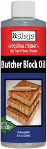 Siege Butcher Block Oil, 8 oz, Earth Friendly, Made in USA, 780