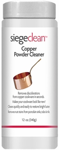 Siege Copper Powder Cleaner, 12 oz, Earth Friendly, Made in USA, P-12P