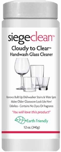 Siege Handwash Glass Powder Cleaner, 12 oz, Earth Friendly, Made in USA, P-35