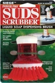 Siege, Power Pro Suds Scrubber, Liquid Soap Dispensing Brush, Red, 630R