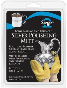 Siege Silver Polishing Mitts, Made in USA, 63018