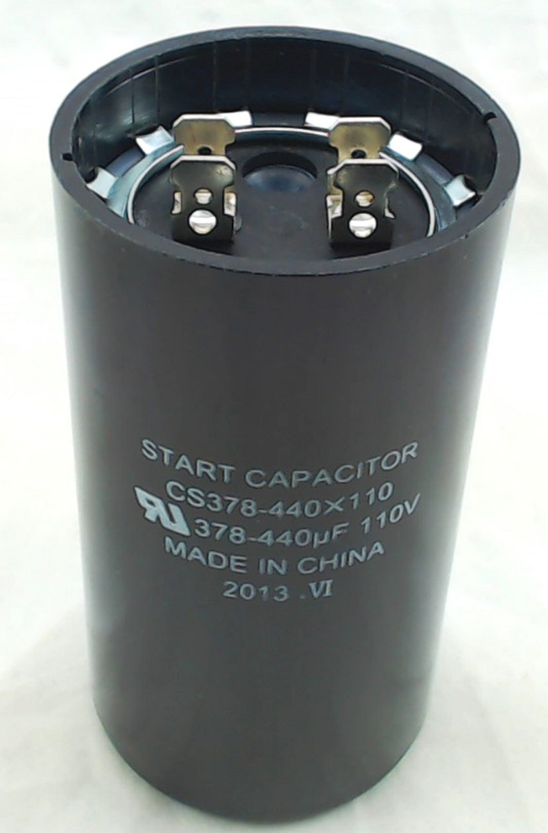 Cs378 440x110 Start Capacitor Round 378 440 Mfd 110 Volt