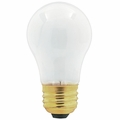 Universal Frosted Appliance Light Bulb, 40 Watt Incandescent, 130 Volt, 40A15