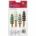Wilton 6 Cavity Christmas Trees Pretzel Mold, 2115-1747