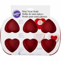 Wilton 6 Cavity Silicon Heart Mold Pan, 2105-4824