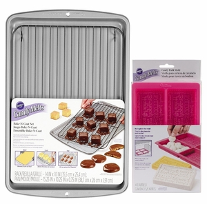 Wilton Candy Melts Bake-N-Coat Set With Candy Bark Mold Kit, WCM-0230KIT