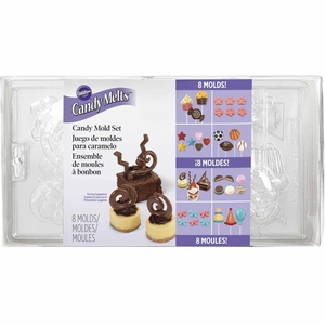 Wilton Candy Melts, Candy Mold Set 8 Pack, 2115-0030