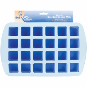Wilton Easy-Flex 24 Cavity Bite-Size Square Mold, 2105-4890