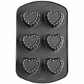 Wilton Mini Heart Shaped 6 Cavitly Mold, 2105-0771