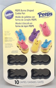 Wilton Non-Stick 10-Cavity Peeps Bunny Shape Cookie Pan, 2105-2367