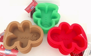 Wilton Silicone, 12 Pack Mini Gingerbread Boy Molds, WSMG12PK