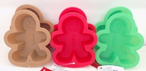 Wilton Silicone, 6 Pack Mini Gingerbread Boy Molds, WSMG6PK