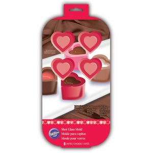 Wilton Silicone, 8 Cavity Heart Shot Glass Mold, 2105-3120