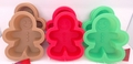 Wilton Silicone, 9 Pack Mini Gingerbread Boy Molds, WSMG9PK
