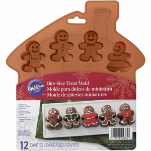 Wilton Silicone Bakeware, 12 Cavity Gingerbread Boy Mold, 2105-5384