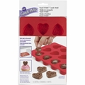 Wilton Silicone Bakeware, 12 Cavity Heart Candy Mold, 2115-0225