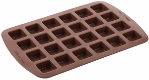 Wilton Silicone Bakeware, 24 Cavity Bite-Size Treat Mold, 2105-4923