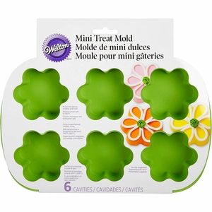 Wilton Silicone Bakeware, 6 Cavity Mini Flower Treat Mold, 2105-4825