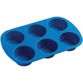 Wilton Silicone Bakeware, 6 Cup Muffin Pan, 2105-4802