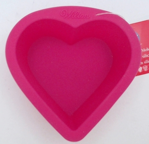 Wilton Silicone, Bright Pink Mini Heart Mold, 2105-3113