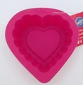 Wilton Silicone, Bright Pink Mini Ruffle Heart Mold, 2105-3116