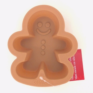 Wilton Silicone, Brown Mini Gingerbread Boy Mold, 2105-5389