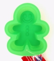 Wilton Silicone, Green Mini Gingerbread Boy Mold, 2105-3270