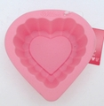 Wilton Silicone, Light Pink Mini Ruffle Heart Mold, 2105-3117