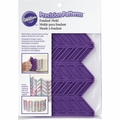 Wilton Silicone, Precision Patterns Herringbone Fondant Onlays Mold, 409-7725