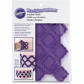 Wilton Silicone, Precision Patterns Trellis Fondant Onlays Mold, 409-7724