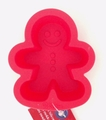 Wilton Silicone, Red Mini Gingerbread Boy Mold, 2105-3269