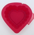 Wilton Silicone, Red Mini Ruffle Heart Mold, 2105-3115
