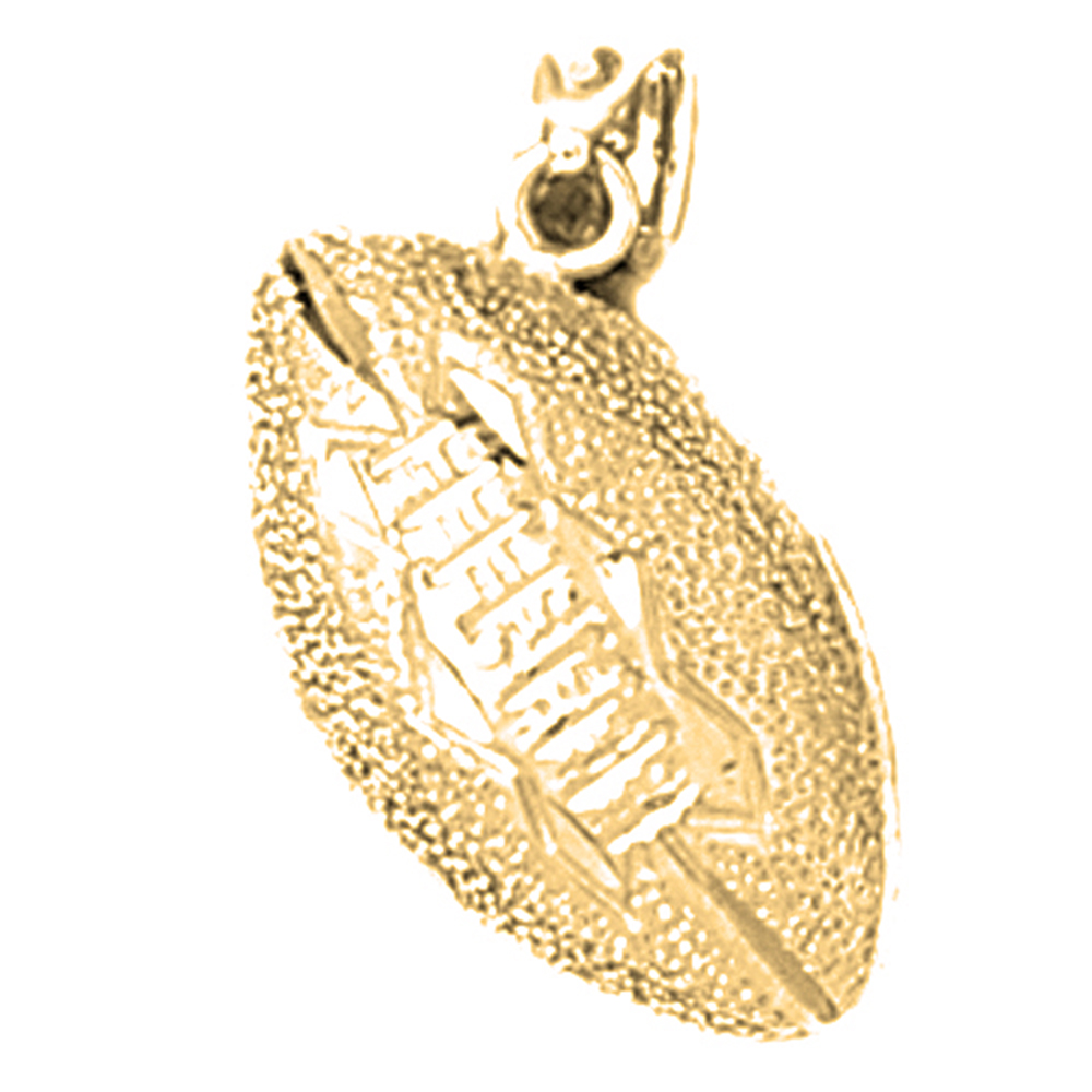 10k 14k or 18k gold 3d football pendant az3209dz 10k 14k or 18k gold 3d football pendant aloadofball Image collections