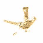 10K, 14K or 18K Gold 3D Roadrunner Pendant
