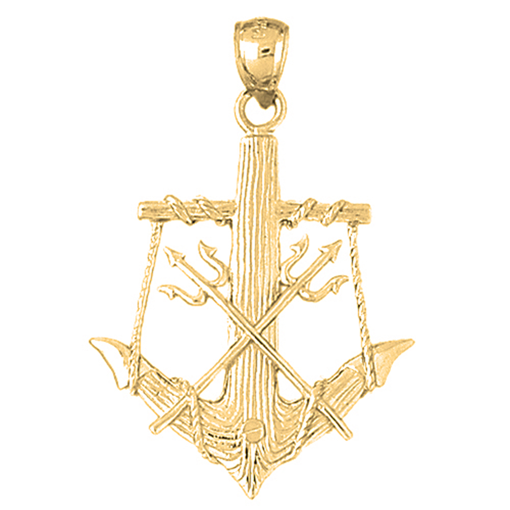 pendant poseidon gold or