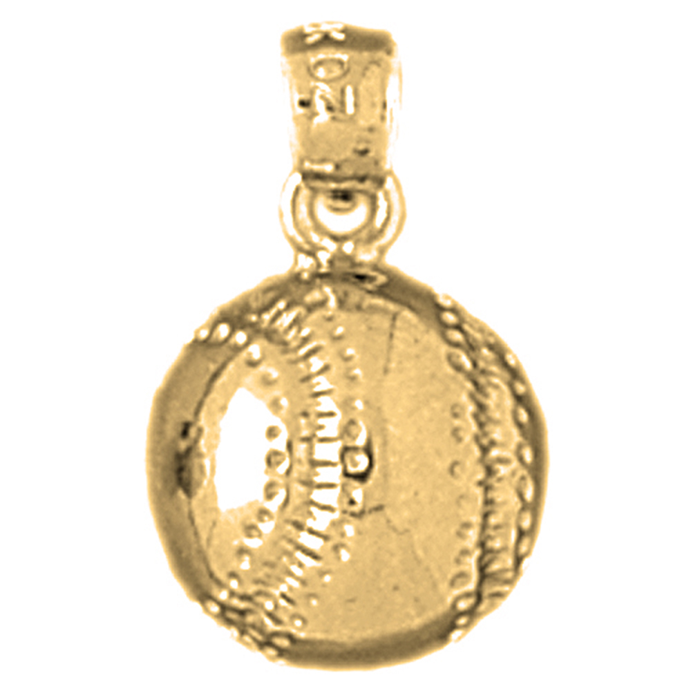Sterling silver 925 baseball pendant sterling silver pendants at sterling silver baseball pendant rhodium yellow rose or black gold plated aloadofball Gallery