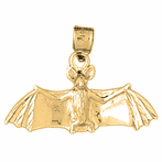 10K, 14K or 18K Gold Bat Pendant