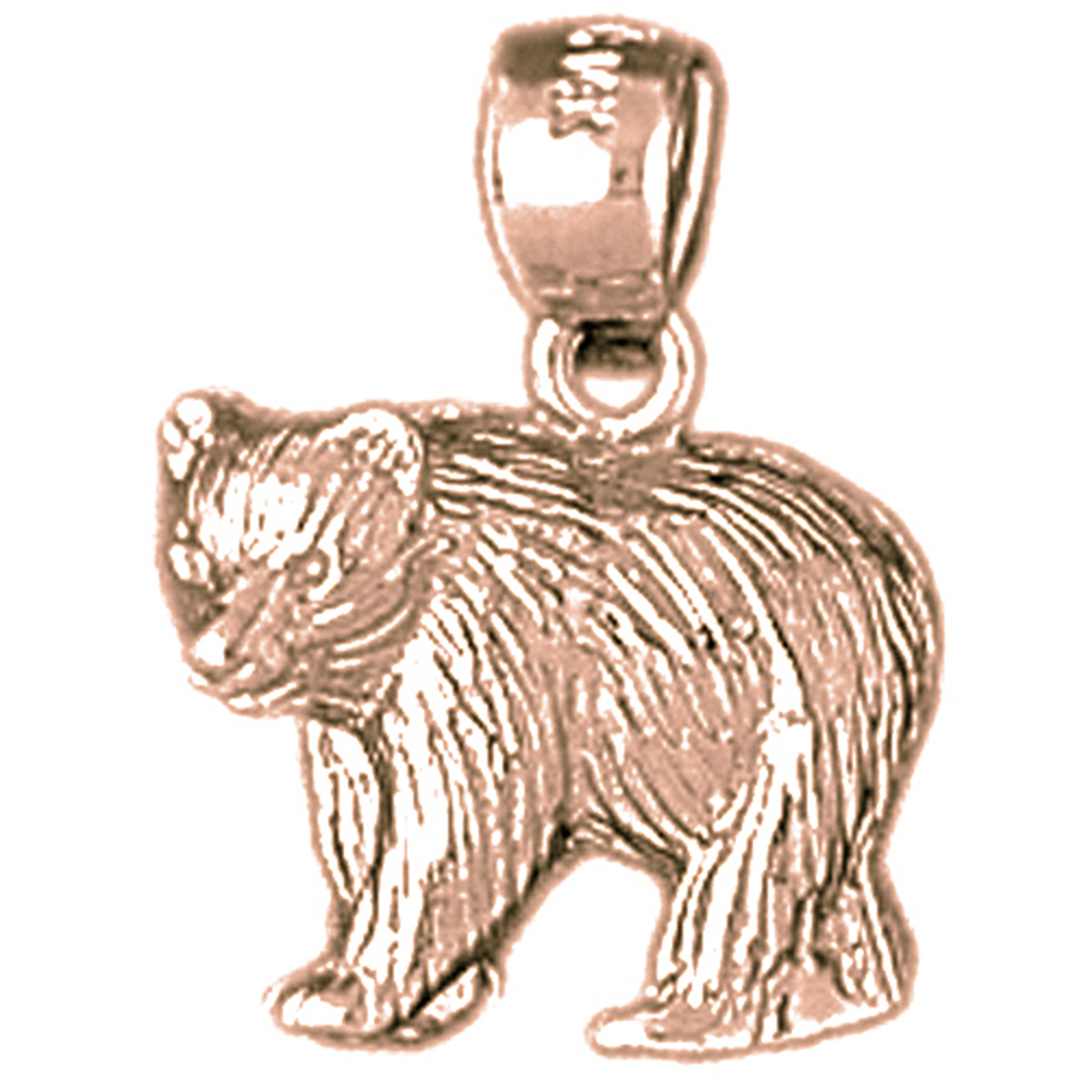 Sterling silver 925 bear pendants sterling silver pendants at sterling silver bear pendants rhodium yellow rose or black gold plated aloadofball Images