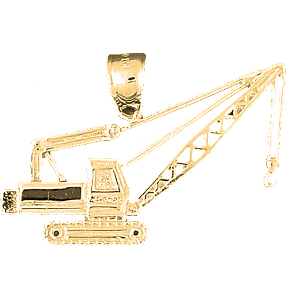 Sterling silver 925 crane pendant sterling silver pendants at sterling silver crane pendant rhodium yellow rose or black gold plated aloadofball Images
