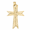 10K, 14K or 18K Gold Cross Pendant